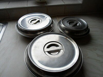 stainless steel bowls for food etc with lids