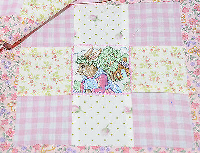 Joblot patchwork Beatrix Potter 9 square pre made panels quilting handmade x 10
