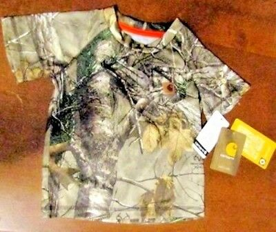 Carhartt boys brown camouflage t-shirt short sleeve new w/tags ships free