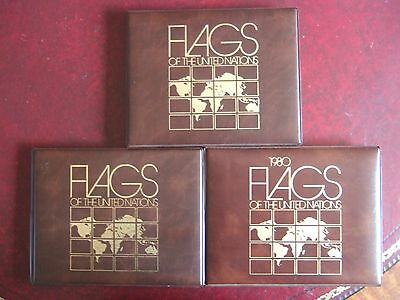UNITED NATIONS 1980-83 FLAG SERIES MINT MNH SHEETS IN 3 x PRESENTATION FOLDERS