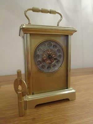 Unusual antique French timepiece carriage clock c.1895 - fully overhauled 11/16