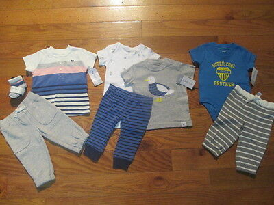 8 piece LOT of baby boy fall/winter clothes size 3 months NWT
