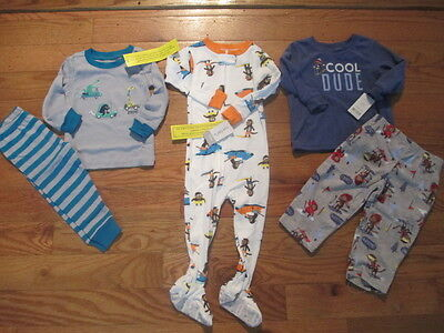 5 piece LOT of baby boy fall/winter pajamas size 18 18-24 months NWT
