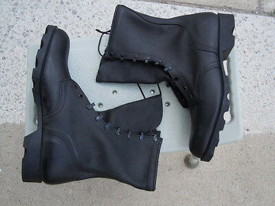 US Army JUNGLE BOOTS All Leather Men's 12 R Black Mildew & Water Resistant NEW