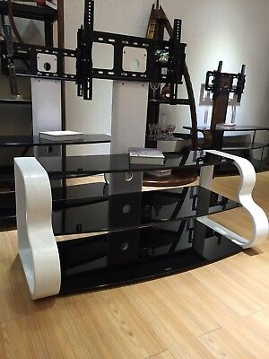 """White TV Stand Wooden TV Unit TV Cabinet with Bracket for 32"""" 65"""" Inches"""