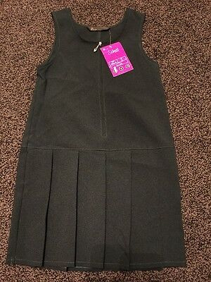 Girls Bhs Bottle Green Pinafore Age 7