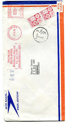 Swaziland 1976 postage due cover pair 1c cancelled Manzini