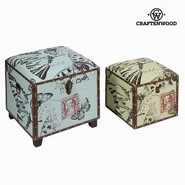 Lot de 2 coffres - Collection Printed by Craften Wood