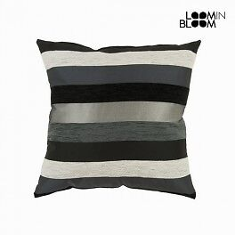 Coussin motegi noir - Collection Colored Lines by Loomin Bloom