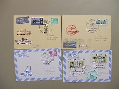 Four Germany FIRST FLIGHT COVERS