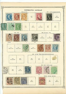 Romania 1872/91 Classic Collection Page Mint Mounted and Used