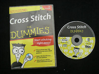 CROSS STITCH FOR DUMMIES CD Rom Ex Con 700 Patterns BARGAIN Craft Clearout