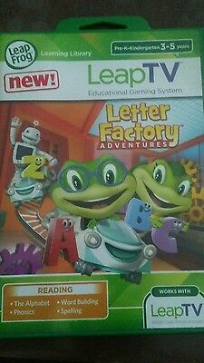 NEW SEALED-Leap Frog Leap TV Letter Factory Adventures Reading Games-Ages 3-5