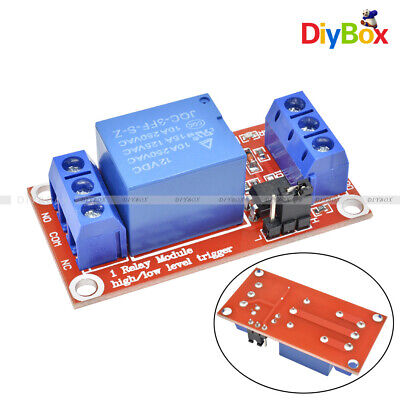 12V 1 Channel Module With Optocoupler Isolation High and Low Level Trigger Relay