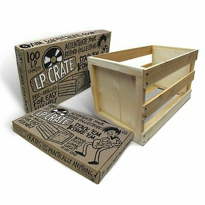 "Crate Farm KTPF1223 100 12"" LP Wooden Vinyl Storage Crate (self assembly)"