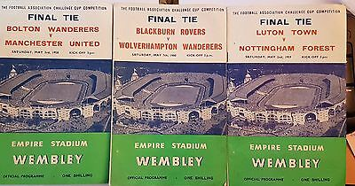 Four FA Cup Final Programmes 1956,1958,1959,1960