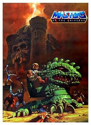 He-Man POSTER Skeletor Masters of the Universe *AMAZING IMAGE*  MOTU He Man