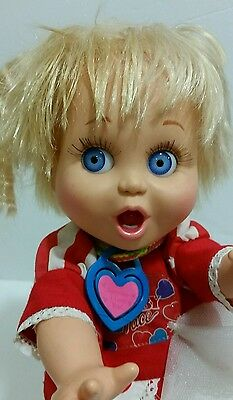 "1990 Galoob 13"" Vintage  Baby Face Doll #2 So Surprised Suzie + Clothes Shoes"