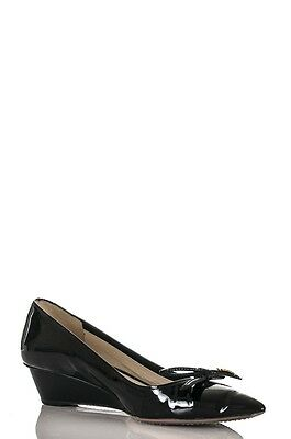 Prada Sport patent leather pointed toe wedge pumps Size 9