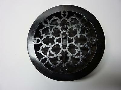 Ornate  Cast Iron Round Heating Grate Grill