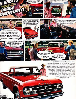 1970 Dodge Adventurer Sport Pickup With Don Knotts  Magazine ad  advertisement