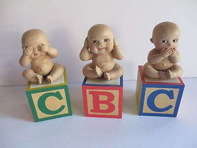 Ping Lau & Marie Osmond Dolls   See No Evil Hear No Evil Speak No Evil Babies