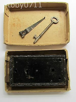 RIM LOCK AND KEY - ANTIQUE VICTORIAN - WORKING ORDER (Ref961)