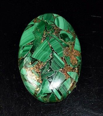 Beautiful 39.85 Cts. Natural Copper Malachite Oval Cabochon Loose Gemstones