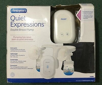 The First Years Quiet Expressions Double Electric Breast Pump New Open Box