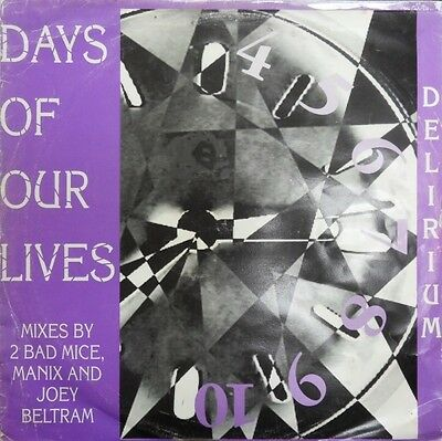 Delirium Days Of Our Lives 1993 Reinforced Records Hardcore Rave Old Skool