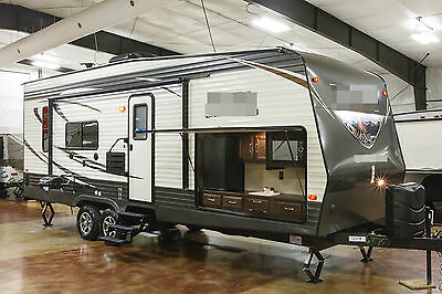 New 2017 25TFS Toy Hauler Travel Trailer with Outdoor Kitchen UTV Compatible