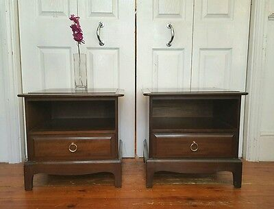 2 x Stag Mahogany Bedside Tables Drawer - London SE14 - Delivery