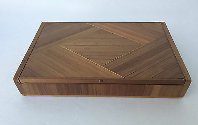 Jean-Michel Frank Straw Marquetry Box Paille Boîte Art Deco 1930's France Mcm
