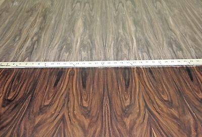 """Rosewood South American wood veneer 24"""" x 96"""" with paper backer 1/40th"""" thick"""
