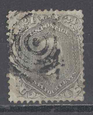 Us Used Stamps  #78 24-Cent Gray  About Fine