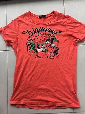 T-shirt Dsquared Rouge Taille M Tbe