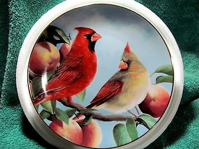 Cardinals for all Seasons Autum Bounty Plate by Bob Travers The Danbury Mint