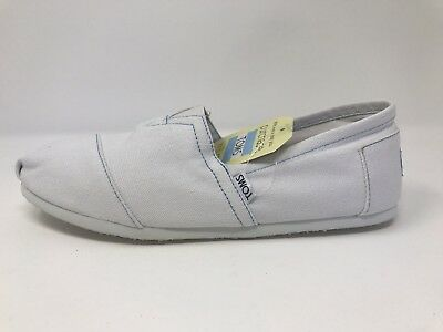 New w/ Box! Mens Toms Classics White Canvans Slip On Loafers