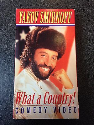 VHS Yakov Smirnoff What a Country! Comedy Video
