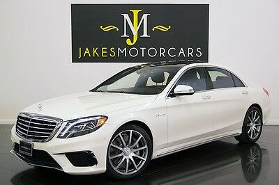 2014 Mercedes-Benz S-Class S63 AMG ($156K MSRP) 2014 S63 AMG 4MATIC, $156K MSRP, DIAMOND WHITE ON BLACK, REAR SEAT PKG, 1-OWNER!