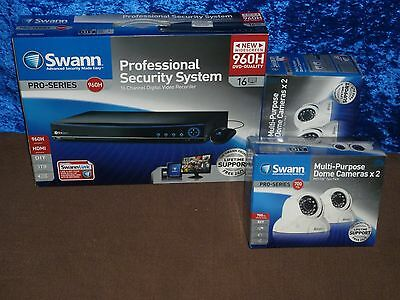 Swann dvr16-4200 16 channel 960H DVR 2x 1TB HDD WITH 4xPRO-736 DOME CAMERAS