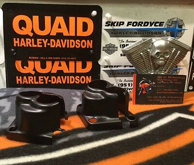 Custom Harley Matte Black Evo Lifter Block Covers (12)