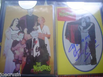 Signed Autograph Al Lewis & Yvonne De Carlo+14 Cards 1964 Munsters Mumbles Lot