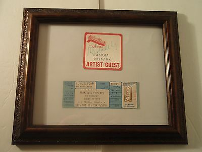 Autographed 1984 Judas Priest Back Stage Pass Tacoma and Concert Ticket