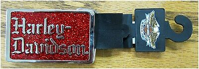 "Harley-Davidson New  ladies Belt Buckle Rocker Red & Chrome 3"" by 2-3/4"""