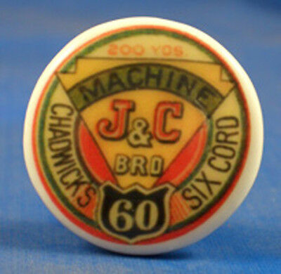 1 inch China Collectable Sewing Button -- Chadwicks Cotton