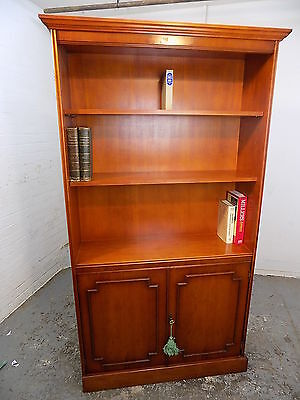 bookcase,cupboard,shelves,cornice,cabinet,adjustable shelves,yew,tall,open front