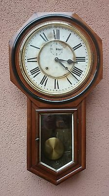 Early 1900s Ansonia wall clock Good Working Order