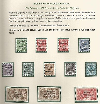 IRELAND THE 1922 DOLLARD SET TO 5/- MOSTLY MNH (THE 2/6ds ARE MM) CAT £287+