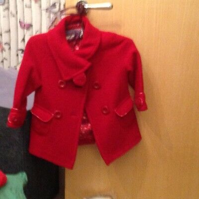 Bluezoo Red beautiful coat age 3-4 years